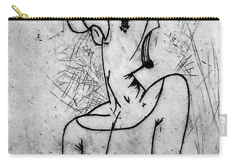 Misc Carry-all Pouch featuring the print Screamer by Thomas Valentine