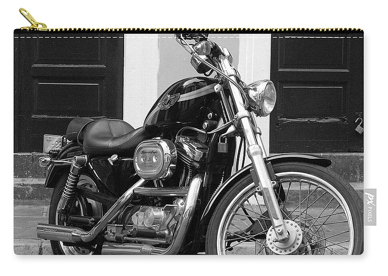 Motorcycle Carry-all Pouch featuring the photograph Screamin Eagle by Debbi Granruth