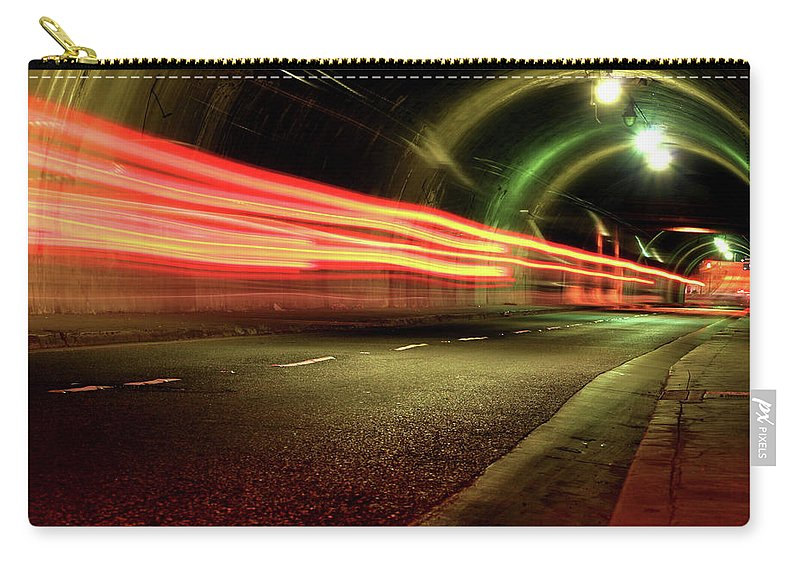Night Carry-all Pouch featuring the photograph Screaming Tunnel by Dustin Woods