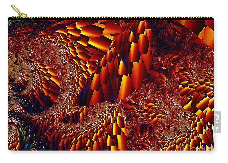 Scree Slope Carry-all Pouch featuring the digital art Scree Slopes by Ron Bissett