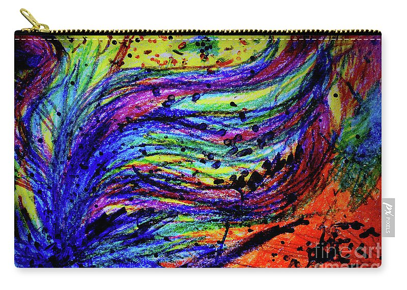 Artwork Carry-all Pouch featuring the digital art Scribble by Karen Adams