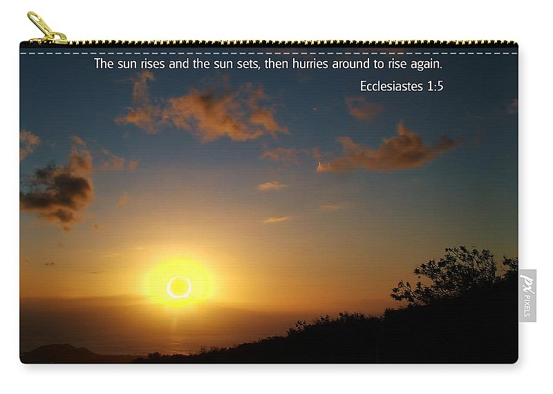 Bible Verses With Pictures Carry-all Pouch featuring the photograph Scriture And Picture Ephesians 1 5 by Ken Smith