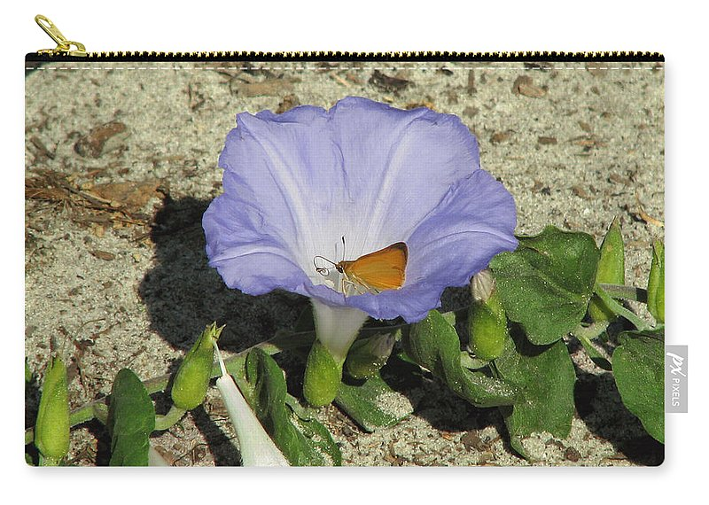 Nature Carry-all Pouch featuring the photograph Scrub Morning Glory by Peg Urban
