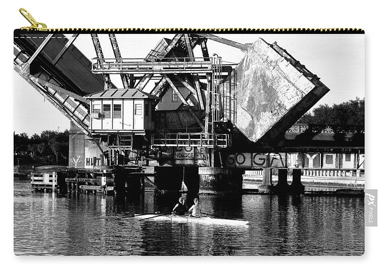 Sculling Carry-all Pouch featuring the painting Sculling For Two by David Lee Thompson