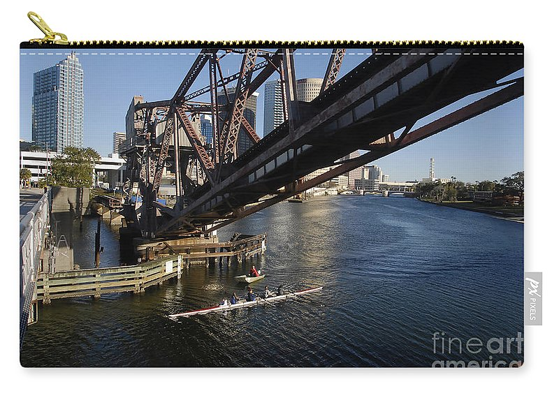 Sculling Carry-all Pouch featuring the photograph Sculling The Hillsborough by David Lee Thompson