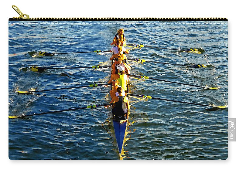 Females Carry-all Pouch featuring the photograph Sculling Women by David Lee Thompson