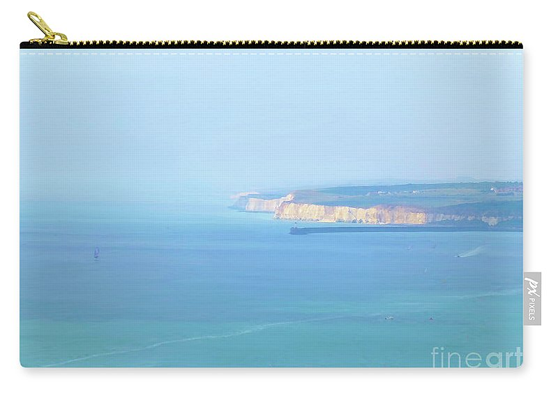 Digital Art Carry-all Pouch featuring the digital art Sea And Cliffs Photoart by Francesca Mackenney