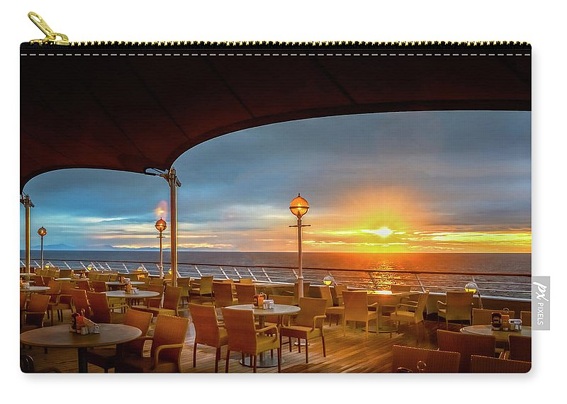 Ocean Carry-all Pouch featuring the photograph Sea Cruise Sunrise by John Poon