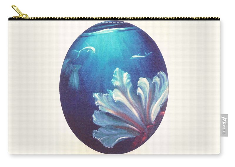Underwater Carry-all Pouch featuring the painting Sea Fan by Dina Holland