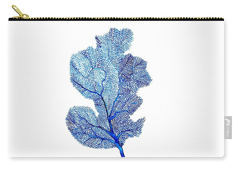 Deep Green Color Art Carry-all Pouch featuring the painting Sea Fan by Sweeping Girl