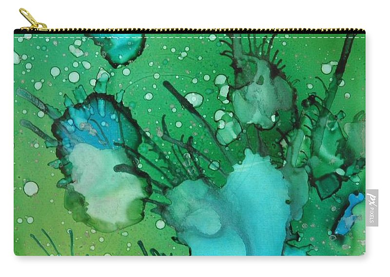 Abstract Carry-all Pouch featuring the painting Sea Floor by Beth Kluth