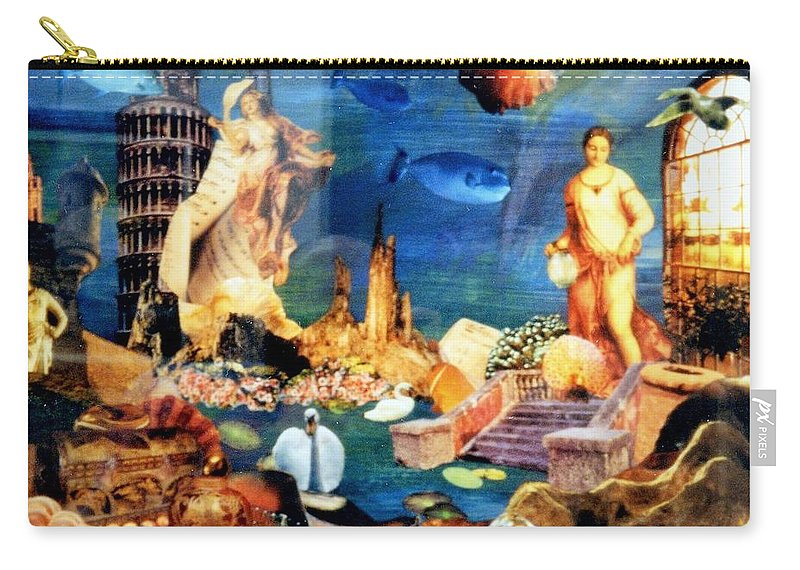 Fantasy Carry-all Pouch featuring the painting Sea Garden by Gail Kirtz