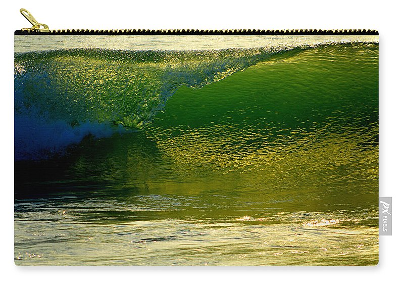 Ocean Carry-all Pouch featuring the photograph Sea Green Cascade by Dianne Cowen