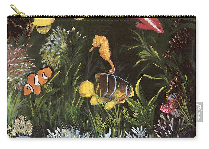 Sea Carry-all Pouch featuring the painting Sea Harmony by Carol Sweetwood