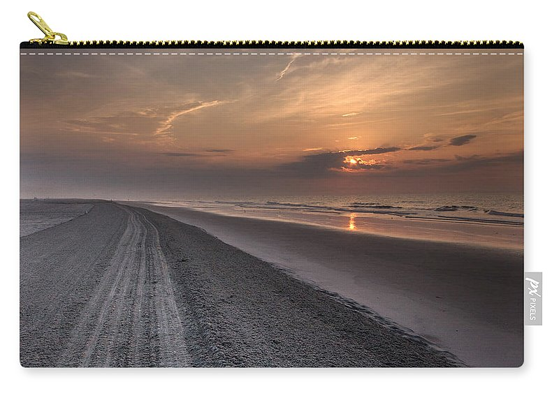 New Jersey Carry-all Pouch featuring the photograph Sea Isle Sunrise by Todd Wilkinson