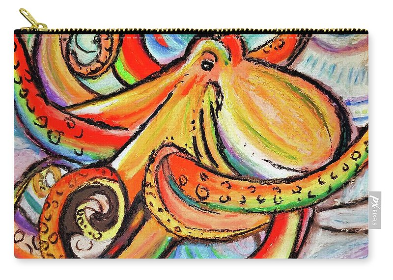 Octopus Carry-all Pouch featuring the pastel Sea Me Swirl by Bonny Puckett