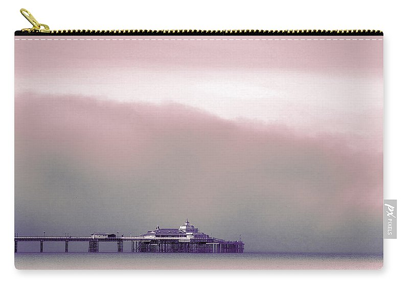 Pier Carry-all Pouch featuring the photograph Sea Mist Replaces The Great Orme As The Backdrop To Llandudno Pier by Mal Bray
