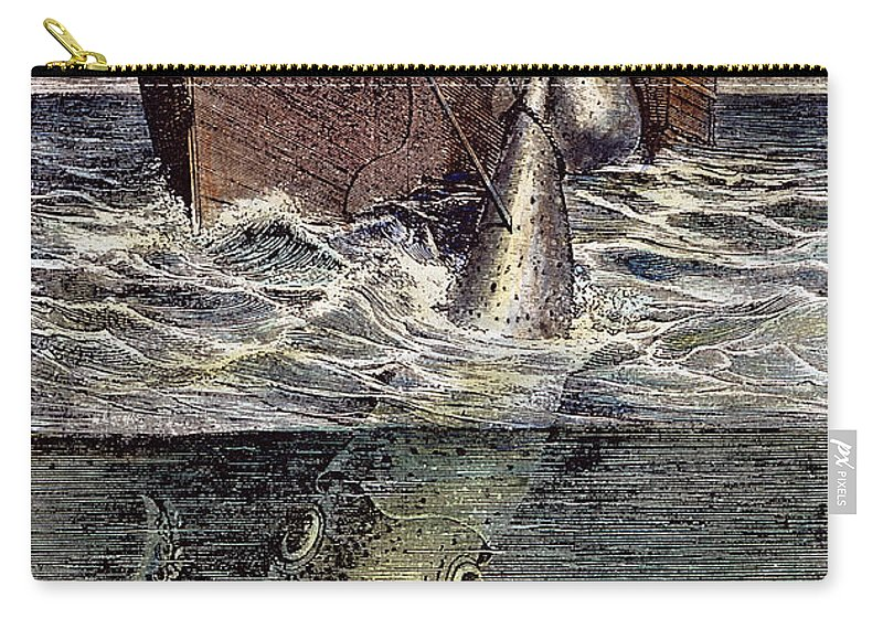 19th Century Carry-all Pouch featuring the photograph Sea Monster by Granger