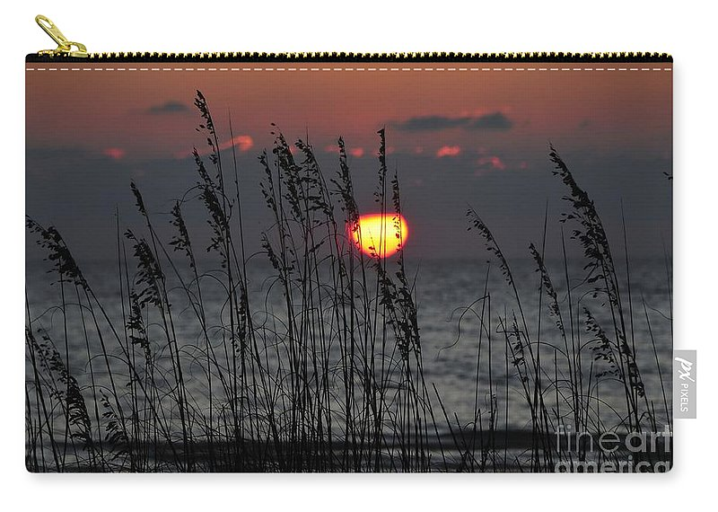Sea Oats Carry-all Pouch featuring the photograph Sea Oats by David Lee Thompson