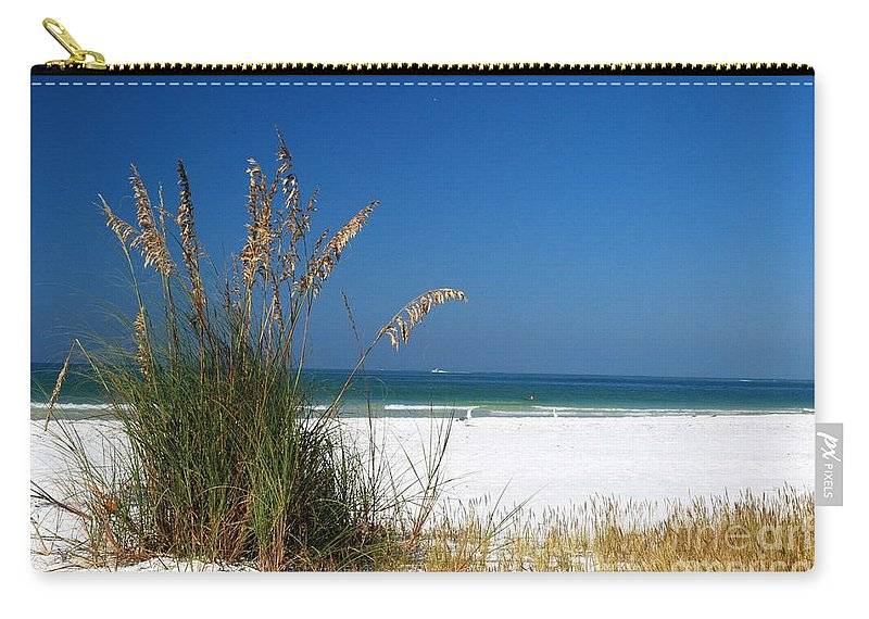 Sea Oats Carry-all Pouch featuring the photograph Sea Oats by Gary Wonning