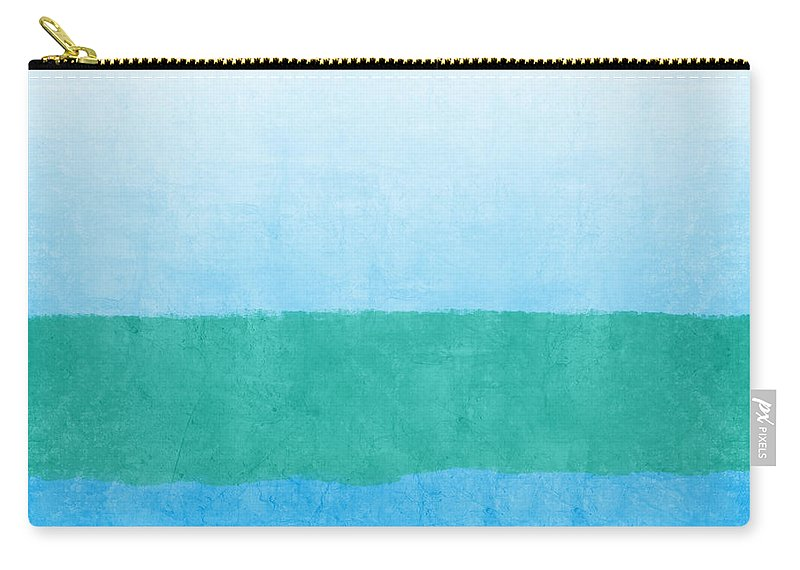 Abstract Carry-all Pouch featuring the mixed media Sea of Blues by Linda Woods