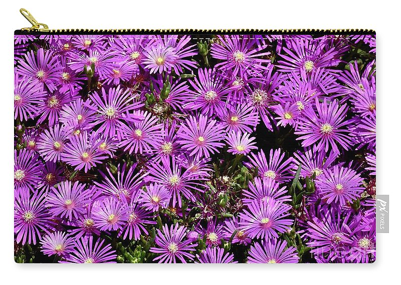 Purple Flower Carry-all Pouch featuring the photograph Sea Of Flowers by Jeramey Lende