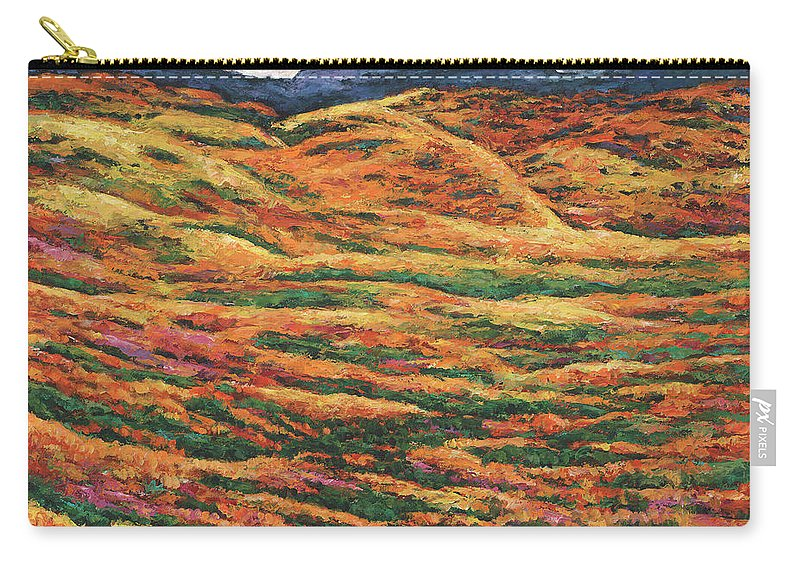 Autumn Aspen Carry-all Pouch featuring the painting Sea of Tranquility by Johnathan Harris