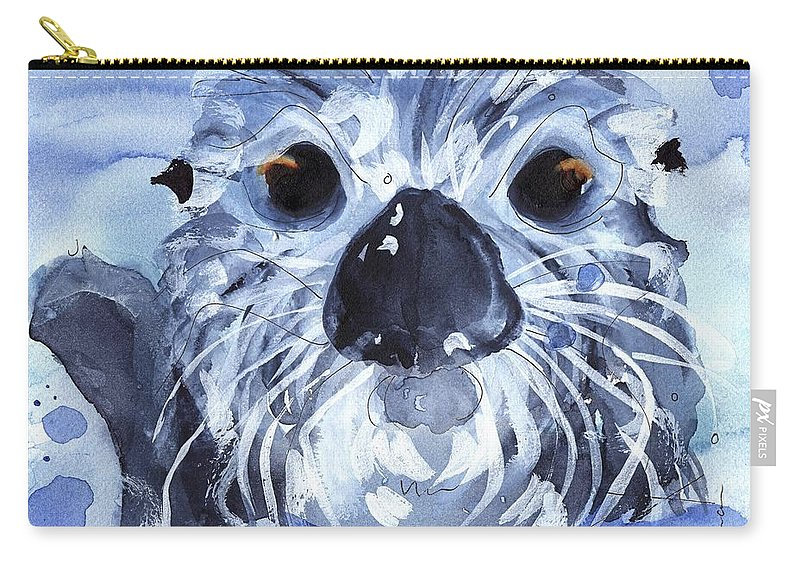 Sea Otter Carry-all Pouch featuring the painting Sea Otter by Dawn Derman