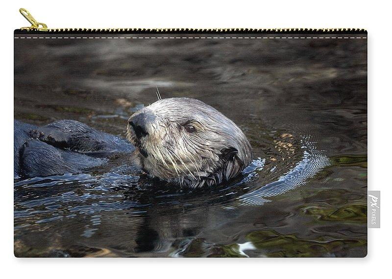 Sea Otter Carry-all Pouch featuring the photograph Sea Otter by Randall Ingalls