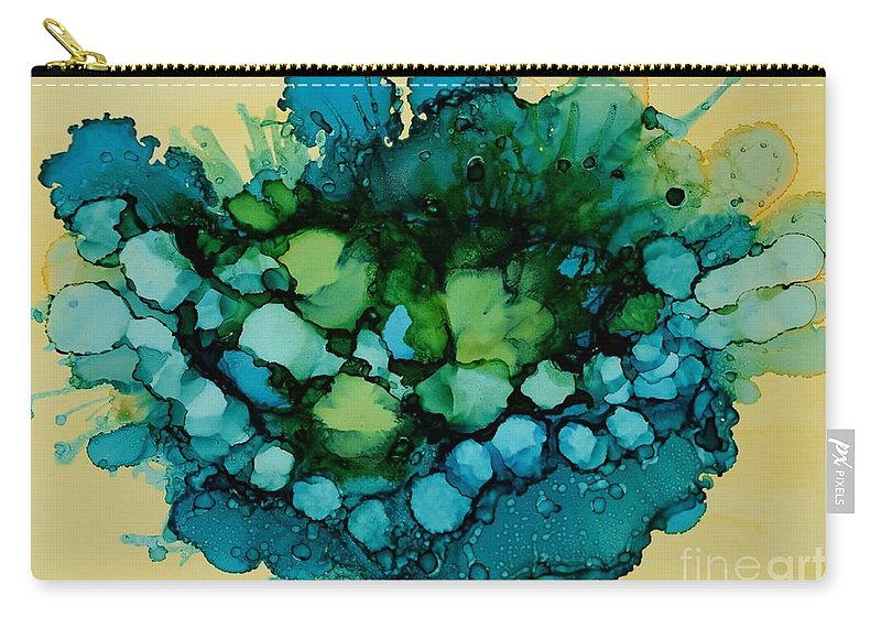 Abstract Carry-all Pouch featuring the painting Sea Pod by Beth Kluth