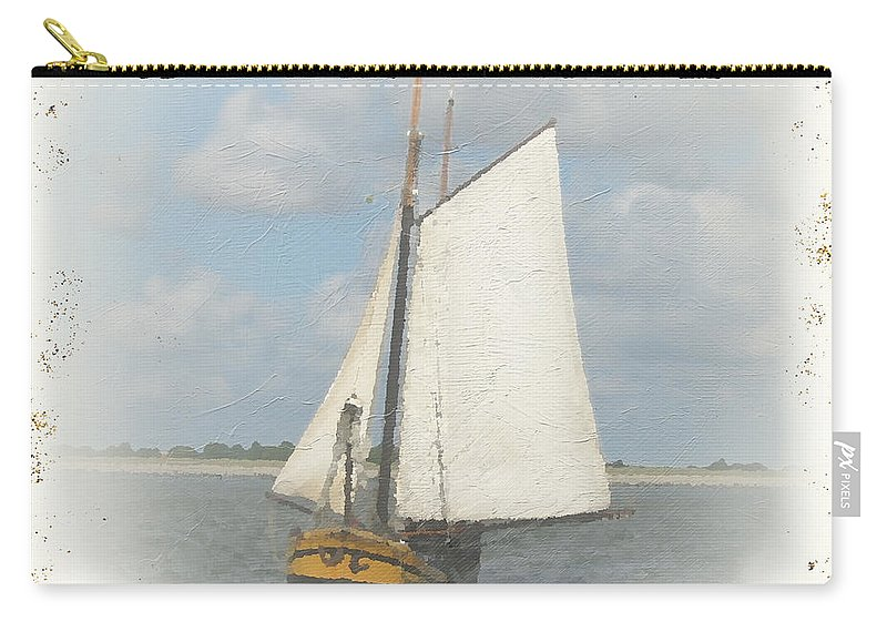 Nautical Carry-all Pouch featuring the painting Sea Side-jp2729 by Jean Plout
