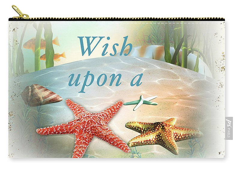 Nautical Carry-all Pouch featuring the painting Sea Side-jp2735 by Jean Plout