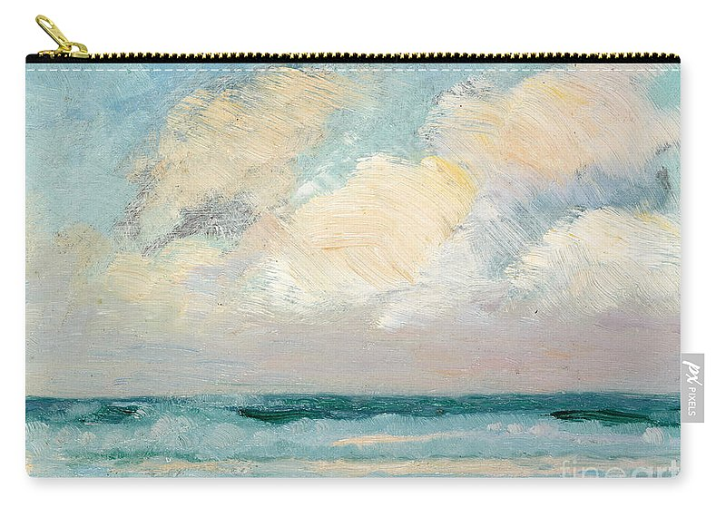 Seascape Carry-all Pouch featuring the painting Sea Study - Morning by AS Stokes