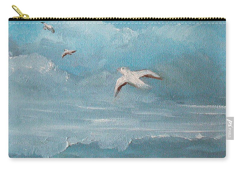Seascape Carry-all Pouch featuring the painting Seabirds by Catherine Sprague