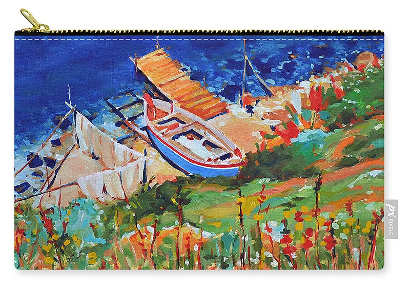 Seascape Carry-all Pouch featuring the painting Seacoast by Iliyan Bozhanov