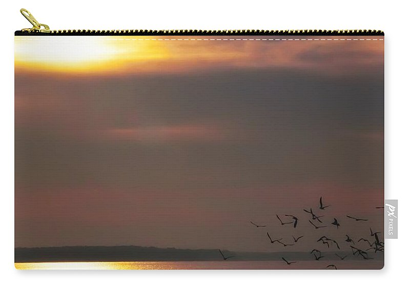 Seagulls Carry-all Pouch featuring the photograph Seagulls On The Chesapeake by Bill Cannon