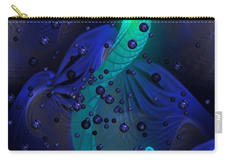 Seahorse Carry-all Pouch featuring the digital art Seahorse by Dana Furi