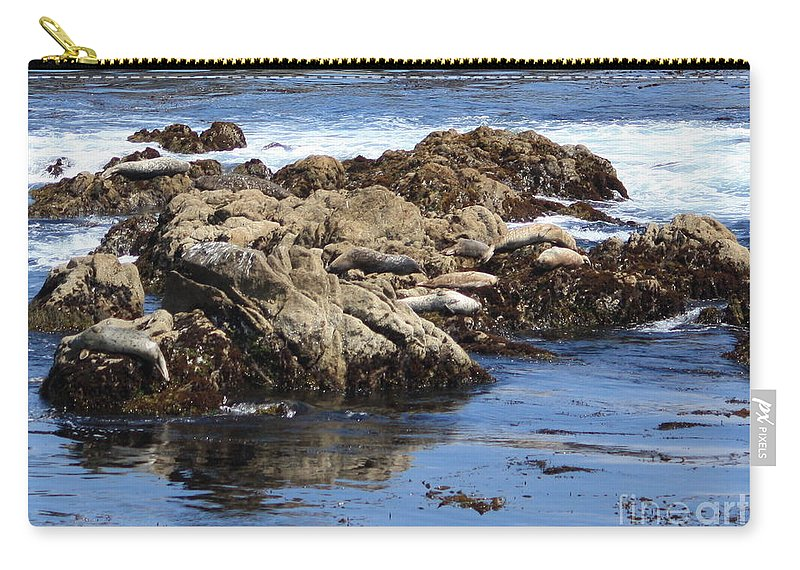California Coast Carry-all Pouch featuring the photograph Seal Island by Carol Groenen