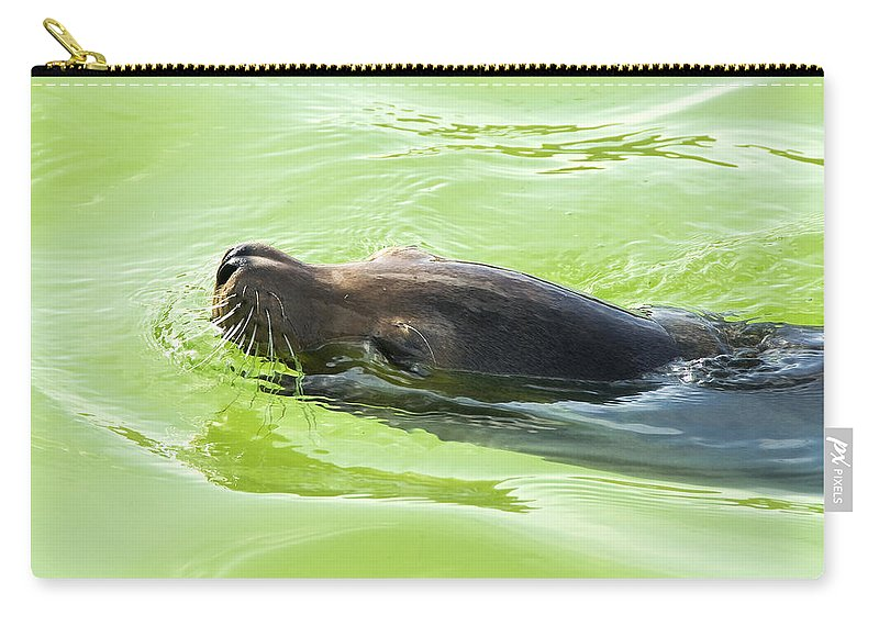 Fish Carry-all Pouch featuring the photograph Seal by Svetlana Sewell