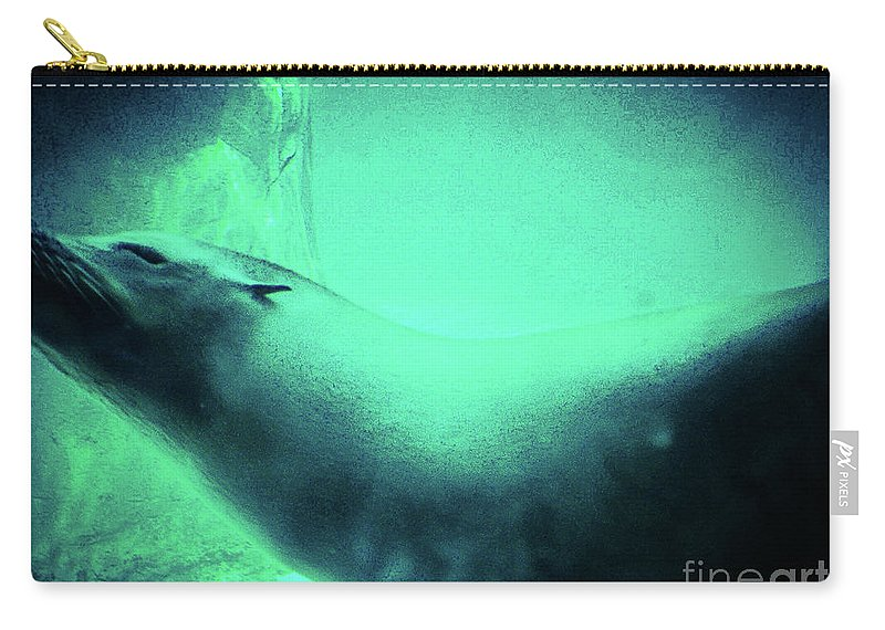 Photography Carry-all Pouch featuring the photograph Seal Swimming by Kayleigh Simons
