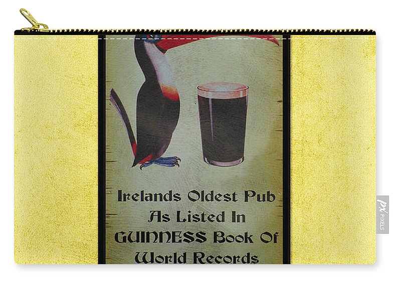 Irish Carry-all Pouch featuring the photograph Seans Bar Guinness Pub Sign Athlone Ireland by Teresa Mucha