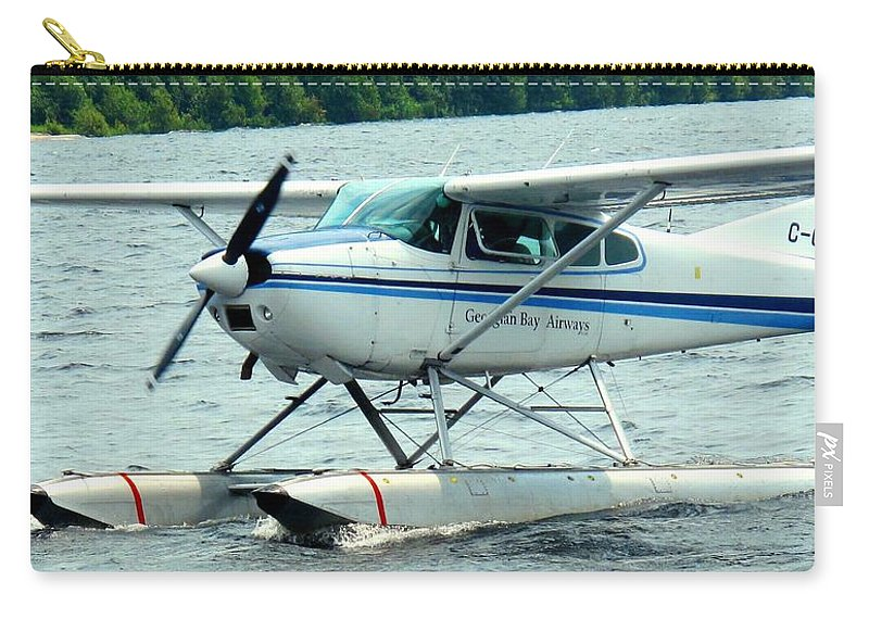 Airplane Carry-all Pouch featuring the photograph Seaplane by Ian MacDonald