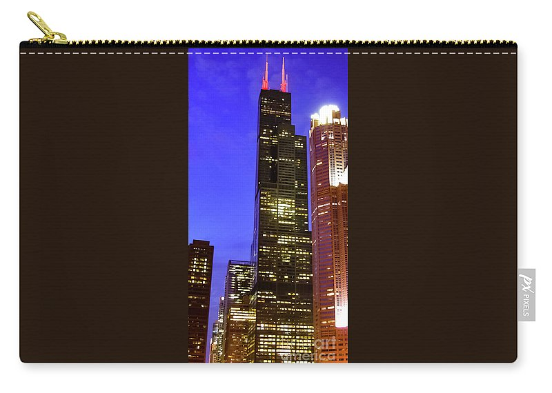 Sears Tower Carry-all Pouch featuring the photograph Sears Tower Chicago by William H Freeman Jr
