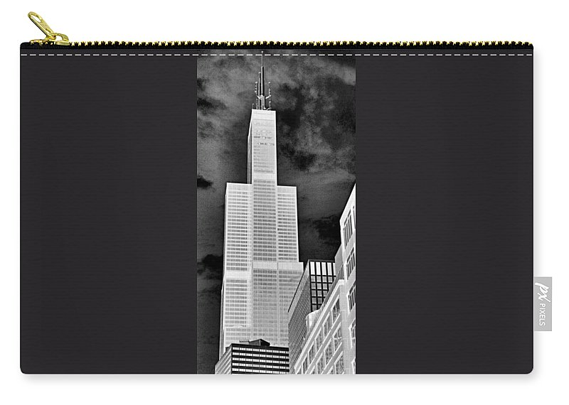 Sears Tower Carry-all Pouch featuring the photograph Sears Tower by Ely Arsha