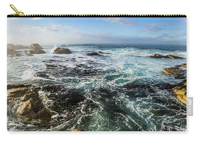 Panorama Carry-all Pouch featuring the photograph Seas Of The Wild West Coast Of Tasmania by Jorgo Photography - Wall Art Gallery