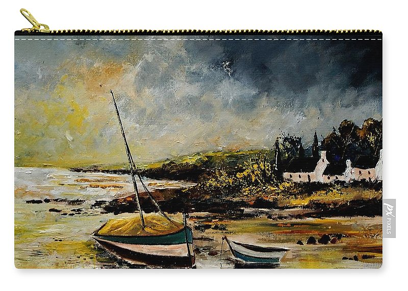 Sea Carry-all Pouch featuring the painting Seascape 452654 by Pol Ledent