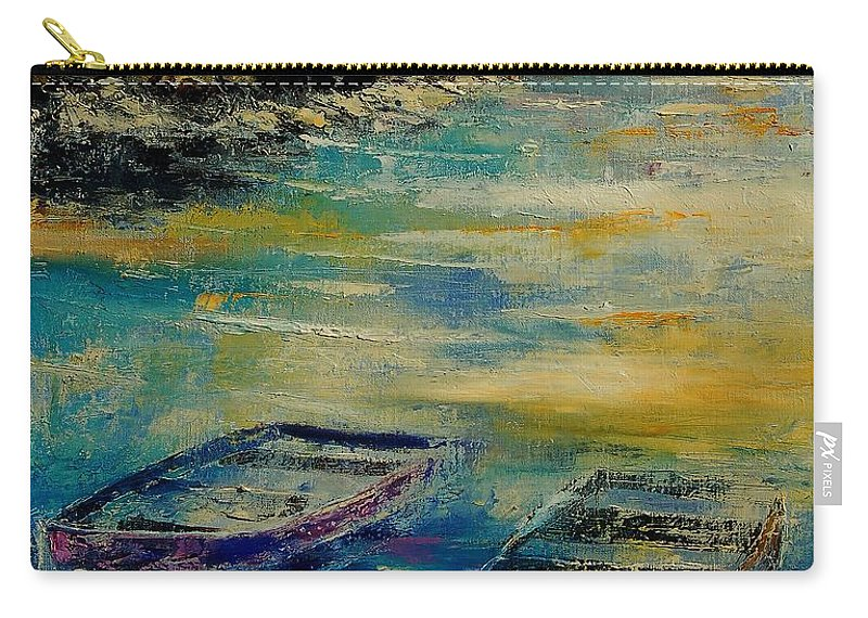 Sea Carry-all Pouch featuring the painting Seascape 5614569 by Pol Ledent