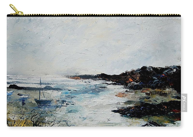 Sea Carry-all Pouch featuring the painting Seascape 68 by Pol Ledent