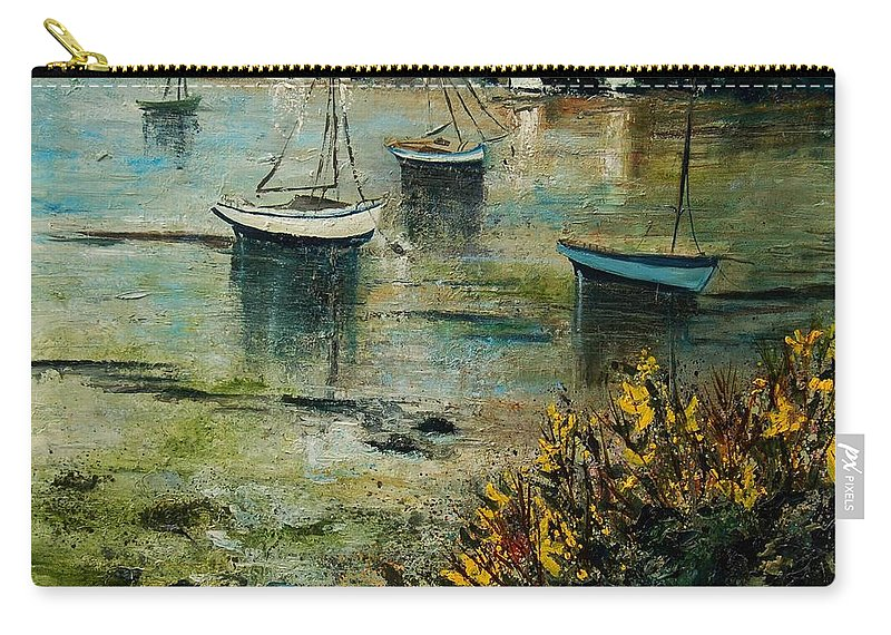 Seascape Carry-all Pouch featuring the print Seascape 78 by Pol Ledent