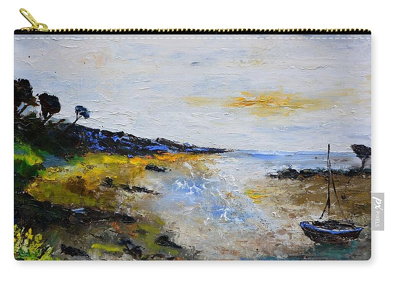 Seascape Carry-all Pouch featuring the painting Seascape In Bretagne by Pol Ledent